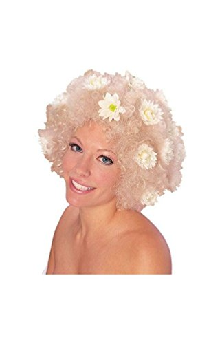 Curly Wig with Daises Blonde