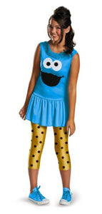 Disguise Sesame Street Cookie Monster Tween Classic Costume, Large/10-12