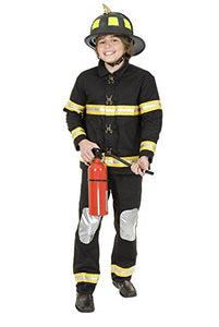 Charades Costumes - Firefighter Black Deluxe Child Costume