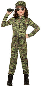 Forum Novelties Army Girl with Hat Costume for Kids