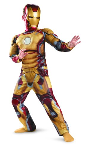 Marvel Iron Man 3 Mark 42 Boys Classic Muscle Costume, 10-12