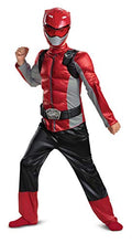 Load image into Gallery viewer, Red Ranger Beast Morphers Classic Muscle Child Costume