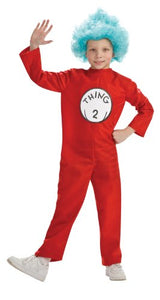 Dr. Seuss Child's Costume And Wig, Thing 2 Costume
