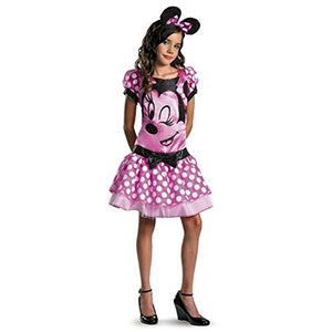 Halloween Costume Disguise Disney Girls Pink Minnie Mouse Kids Halloween Costume