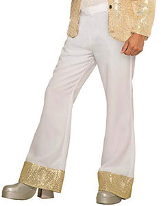 Forum Men's Disco Costume Pants, White, Standard