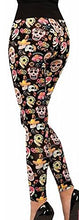 Load image into Gallery viewer, Forum Novelties Women's Day Of The Dead Leggings