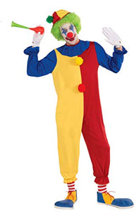 Forum Women's Clown Jumpsuit and Hat Value Costume