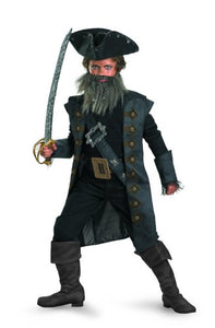 Black Beard Deluxe Child Costume - Large (10-12)