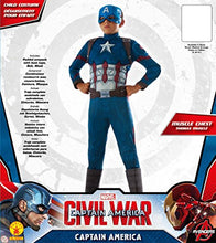 Load image into Gallery viewer, Marvel's Captain America: Civil War - Deluxe Muscle Chest Captain America Costume for Kids