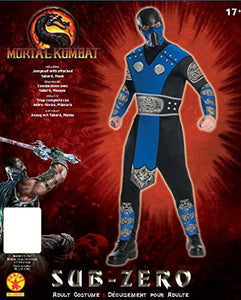 Mortal Kombat Adult Sub-Zero Costume And Mask