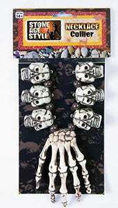 Forum Novelties Unisex-Adults Voodoo Necklace-Hand/Skull, White, Standard