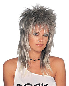 Costume Culture Adult's Unisex Long Rocker Wig, Mixed Blonde, One Size