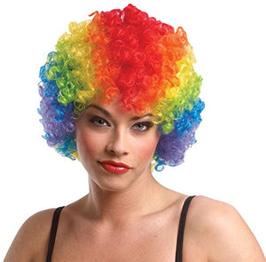 Costume Culture Women's Rainbow Clown Afro Wig