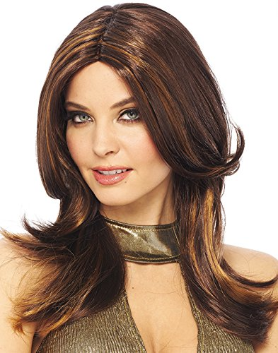 Costume Culture Women's 70's Style Wig, Brown, One Size