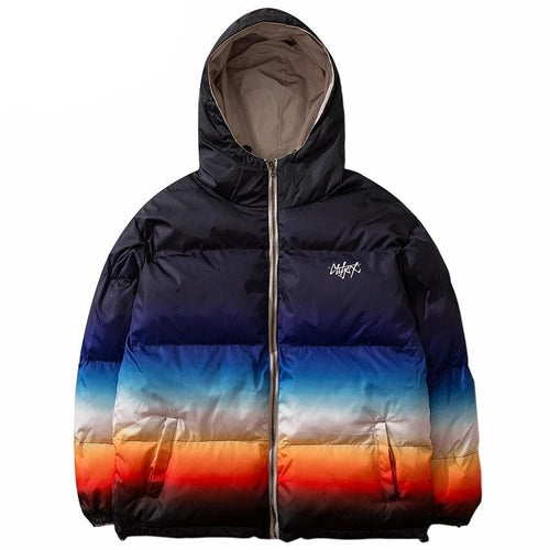 Reversible Gradient Puffer Coat