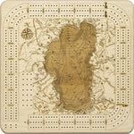 Lake Tahoe Topographic Cribbage Board - Nautical Lake Art