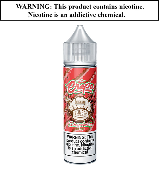 Crepe Liquid - Strawberry Crisp - Strawberry Butter Cream Filled Crepe with Rice Crispy Treats! - TruVape