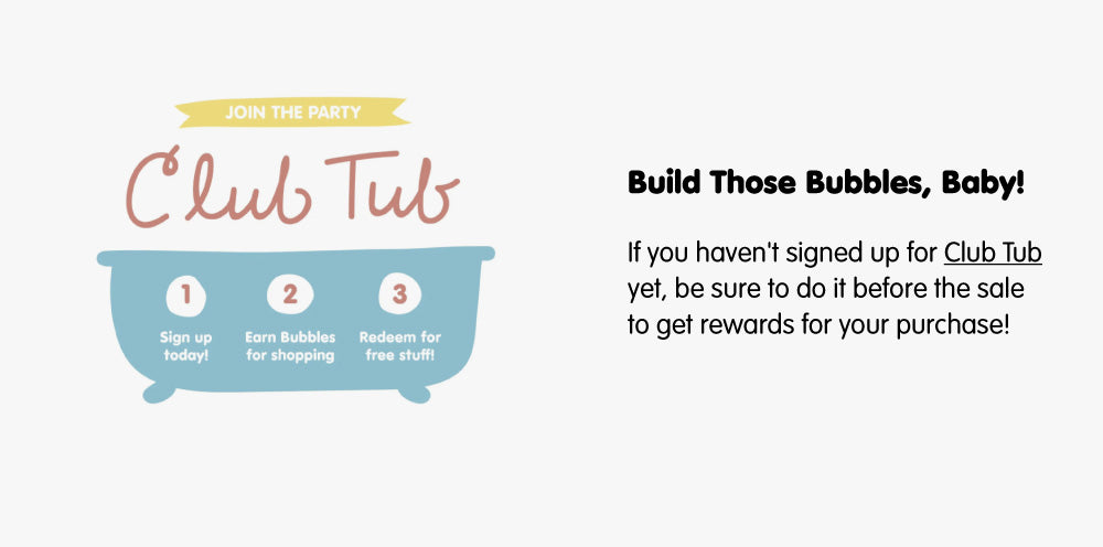 Sign up for Club Tub graphic