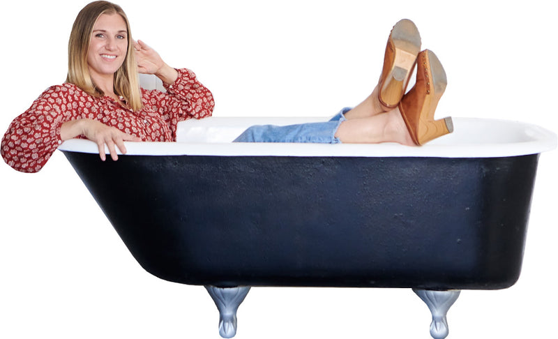 Andrea in bathtub for Club Tub