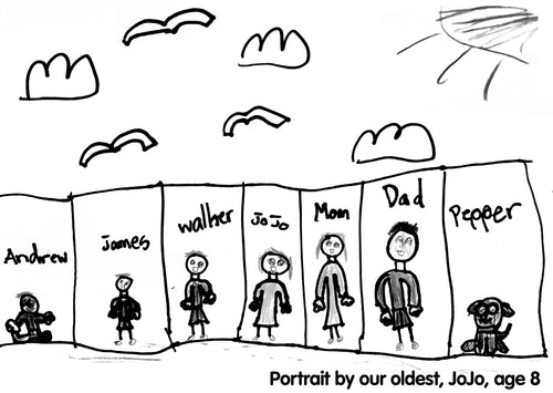 Simple drawing of a family portrait