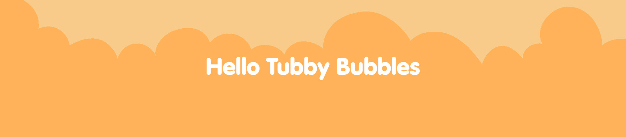child in bubble bath with banner that says tons of bubble fun