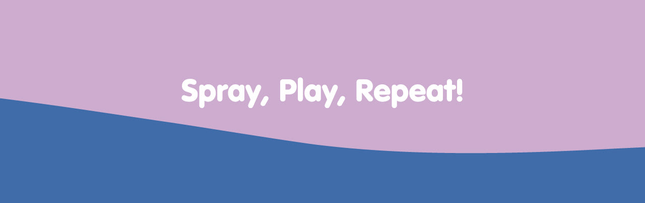 Spray, Play, Repeat! Hand Sanitizer banner