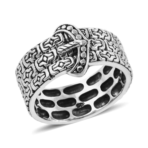 BALI LEGACY Buckle Ring in Sterling Silver (Size 5.0) (Avg. 7.10 g)