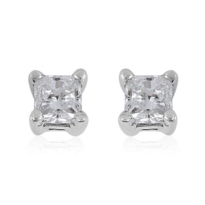 Diamond(H I2) Earrings in 14K White Gold (0.50 g) 0.25 ctw