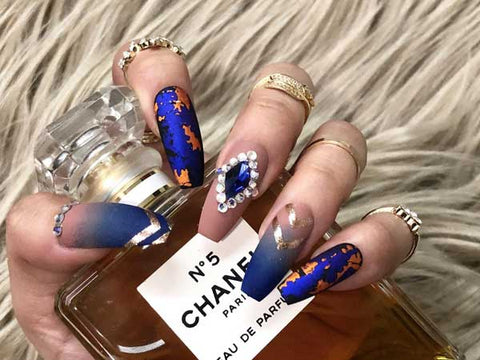 extra long coffin nails cassie