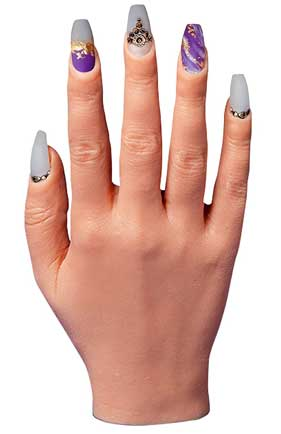 best silicone practice hands for nails