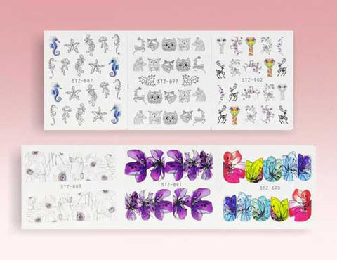 best water decal nail shops etsy