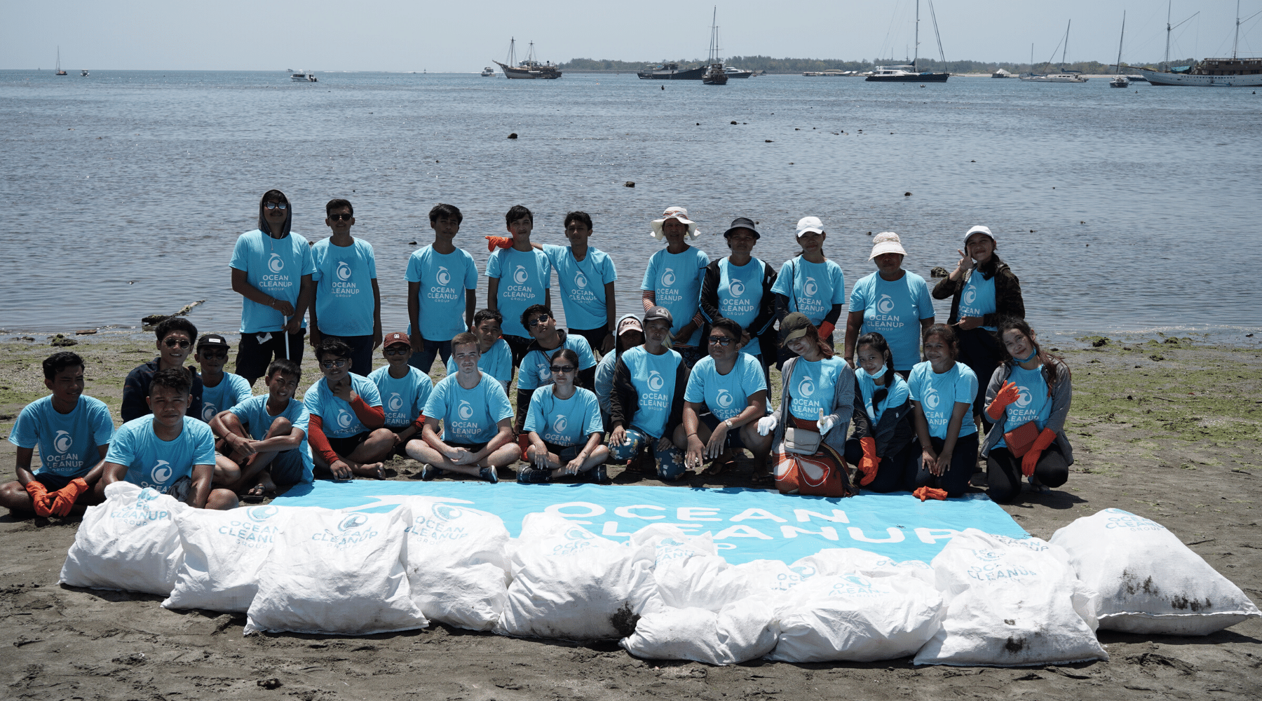 3,473 pounds of plastic removed in Sanur, Bali.