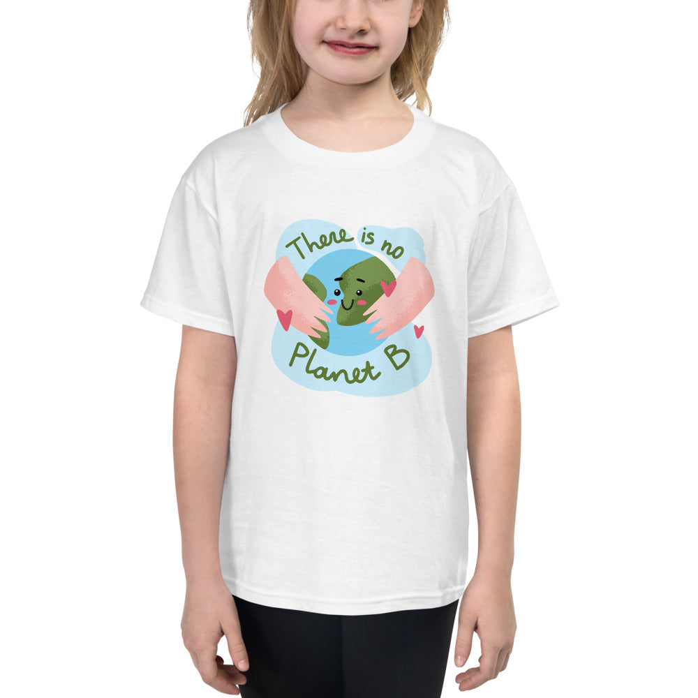 "Youth Lightweight 100% Cotton Short Sleeve ""There is no Planet B"" T-Shirt"