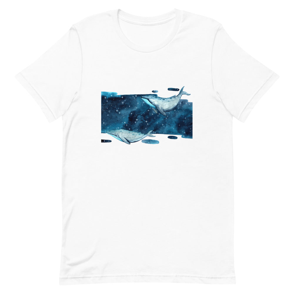 "Short-Sleeve ""Whales in Space"" Unisex T-Shirt"