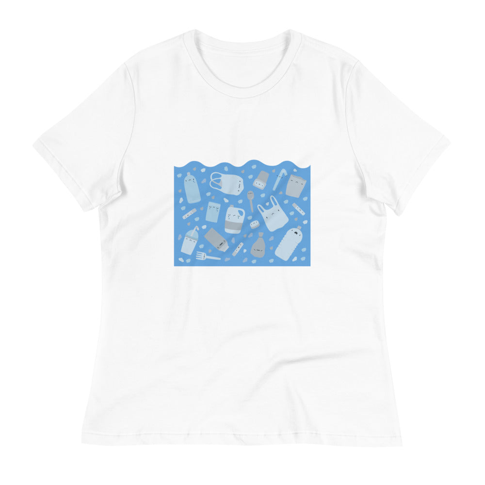 "Women's Relaxed ""Sad Plastic"" T-Shirt"