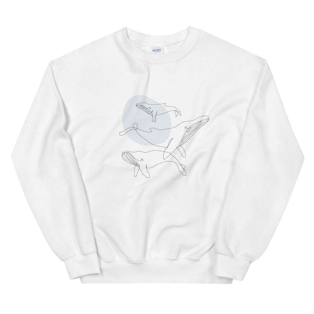 "Unisex ""Abstract Whales"" Sweatshirt"