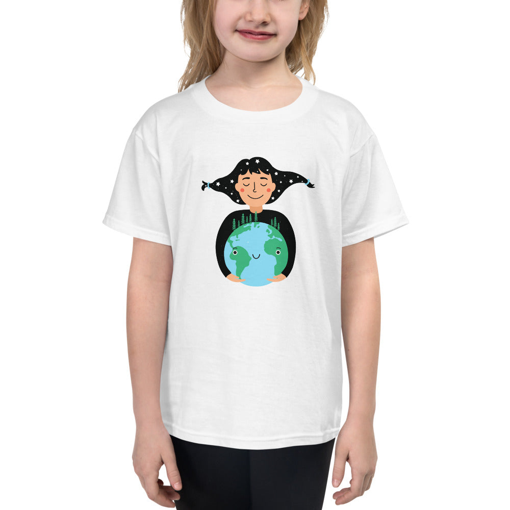 "Youth Lightweight 100% Cotton Short Sleeve ""Happy Planet"" T-Shirt"