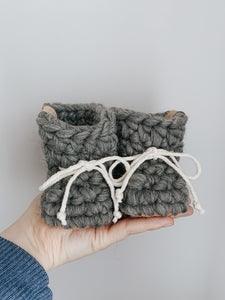 Wool booties - BLUSH