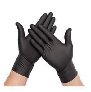 Black Latex Gloves - Medical Grade