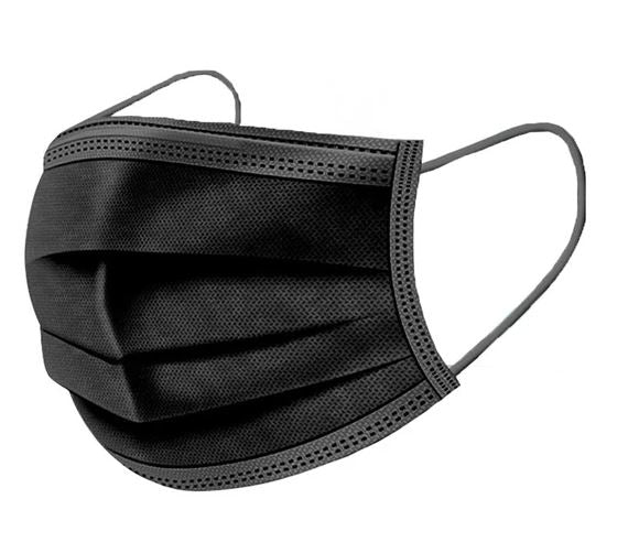Black 3 Ply Face Mask Adult
