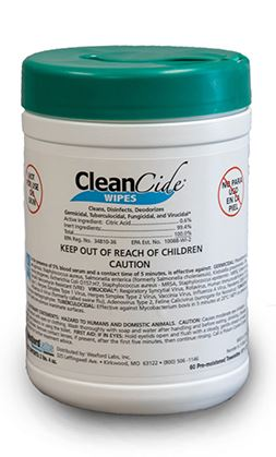 CleanCide by Wexford Labs Disinfectant Wipes (160 Count) $13.99
