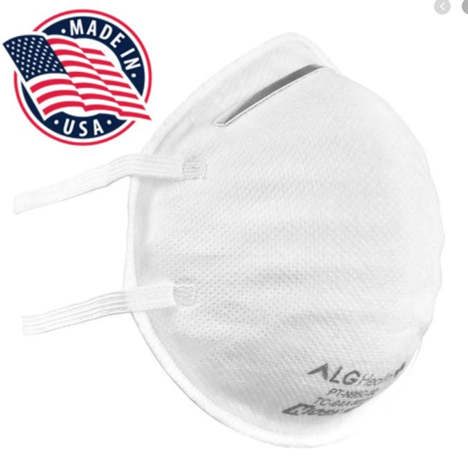 SMALL ADULT SIZE N95 NIOSH Masks ALG Hard Cup Shell (25 Pack) $79.99