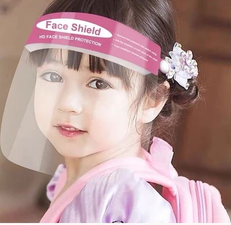 #3 best N95 item for kids: Face Shield (2 Pack) - Kids (Blue or Pink)