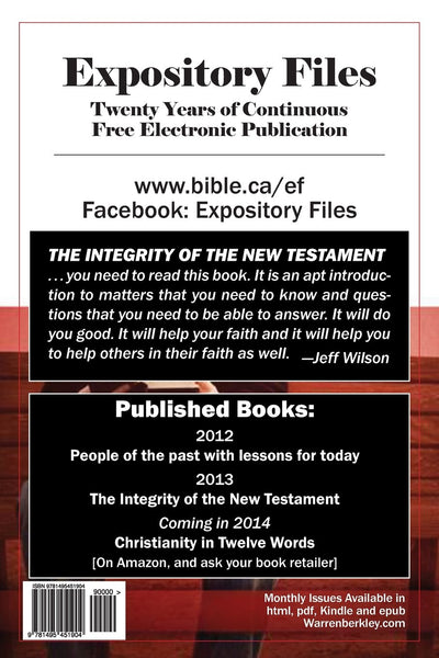 The Integrity of the New Testament