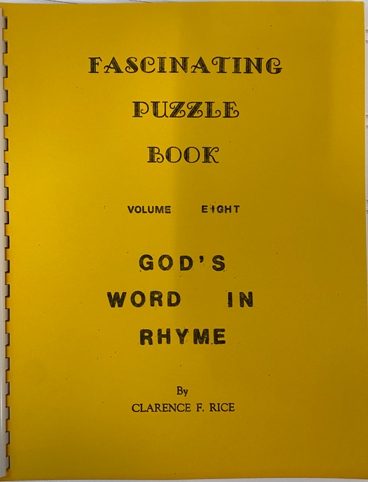 Vintage Puzzle Books: Fascinating Puzzle Book | Volume 8 by Clarence F. Rice