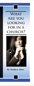 What Are You Looking For in a Church?