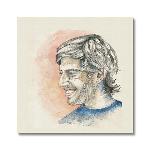 Aaron Swartz - Portrait by Fasto Canvas