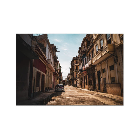 Cuba Sunny Street Hahnemühle German Etching Print