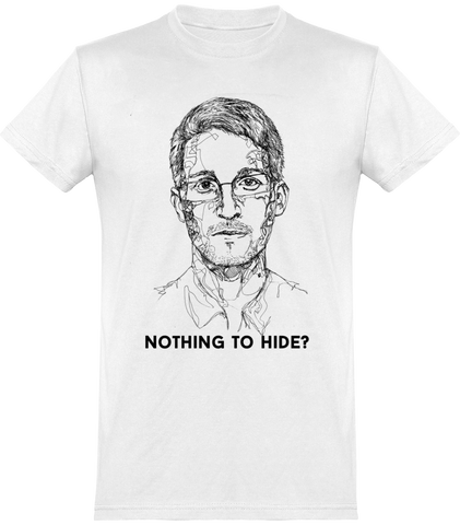 Nothing To Hide? By Fasto Tee Shirt Men Round Neck Short 150 gr