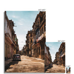 Cuba Sunny Street Photo Art Print